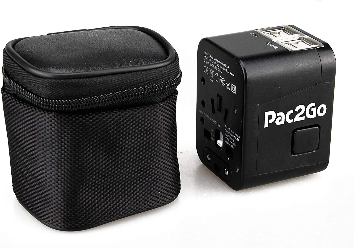 Pac2Go Universal with Quad USB Charger