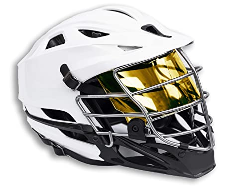 02d710b37e55 EliteTek LAX Lacrosse Color Visor Eye Shield fits Cascade Helmets (Black  Gold Smoked