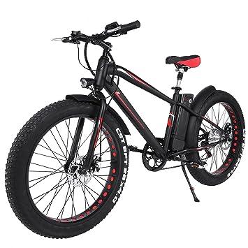AIMADO Bicicletas Electricas de Montaña Nieve Ruedas Anchas y de 26 Pulgadas, E-bike