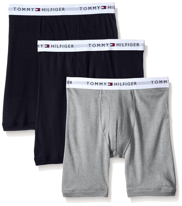 Tommy Hilfiger Men's Underwear 3 Pack Cotton Classics Boxer Briefs 09TE001