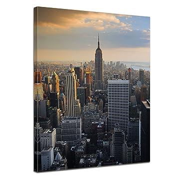 Kunstdruck - New York City II - Bild auf Leinwand - 90 x 120 cm 1 ...