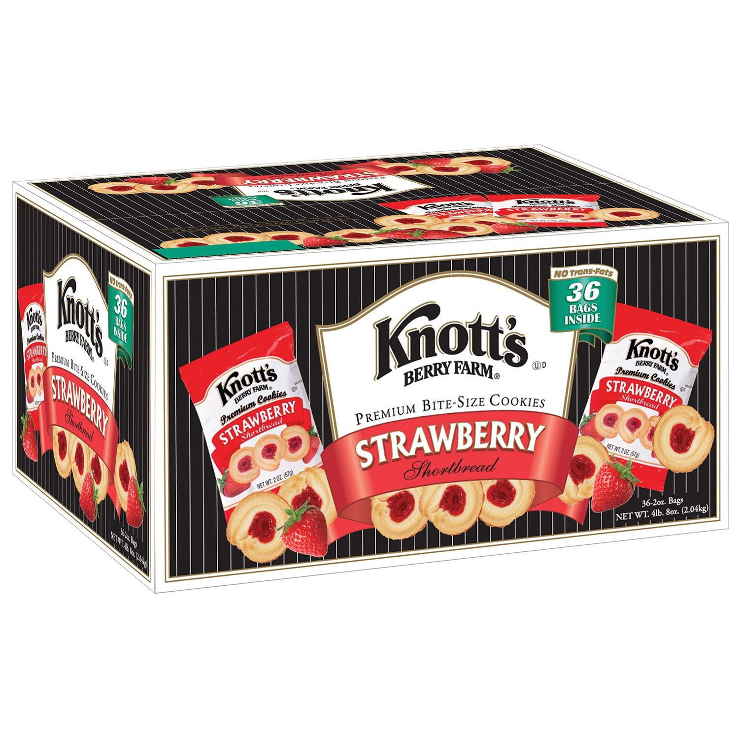 Knott's Berry Farm Strawberry Shortbread Cookies - 36 ct. (pack of 6) by Knott's Berry Farm
