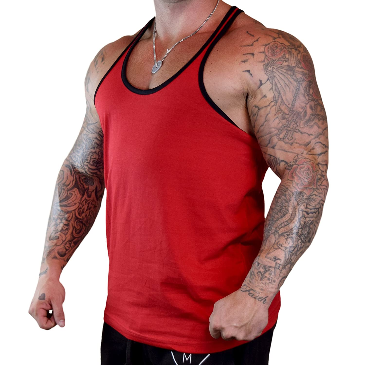 Mens Sore Good V446 Tee Red Stringer Tank Top