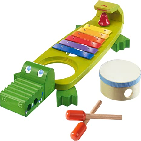 9c7ec773ad2a Amazon.com  HABA Symphony Croc Music Band Set with 4 Instruments for Ages 2  and Up  Toys   Games