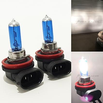 12V H11 55W 5000K White Light Bright Car Xenon Halogen Lamp Headlight Fog Bulb