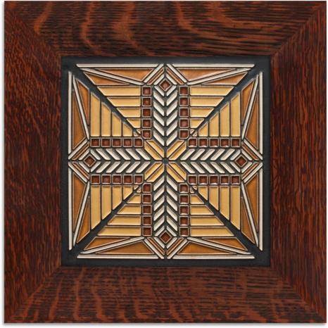 8x8  Framed Prairie Star | Motawi Tileworks