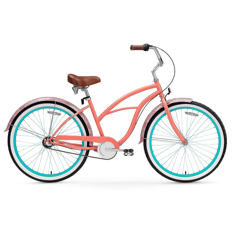sixthreezero Womens Scholar Single Speed Beach Cruiser Bicycle