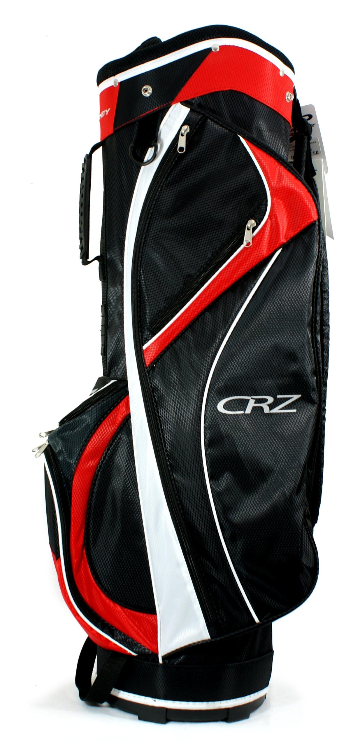AFFINITY CRZ 9.5 Golf Cart Bag, Black/Red/White by Affinity (Image #2)