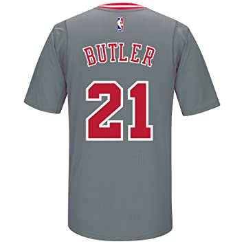 3d4e7aef adidas Jimmy Butler Chicago Bulls Swingman Gray Jersey: Amazon.co.uk ...