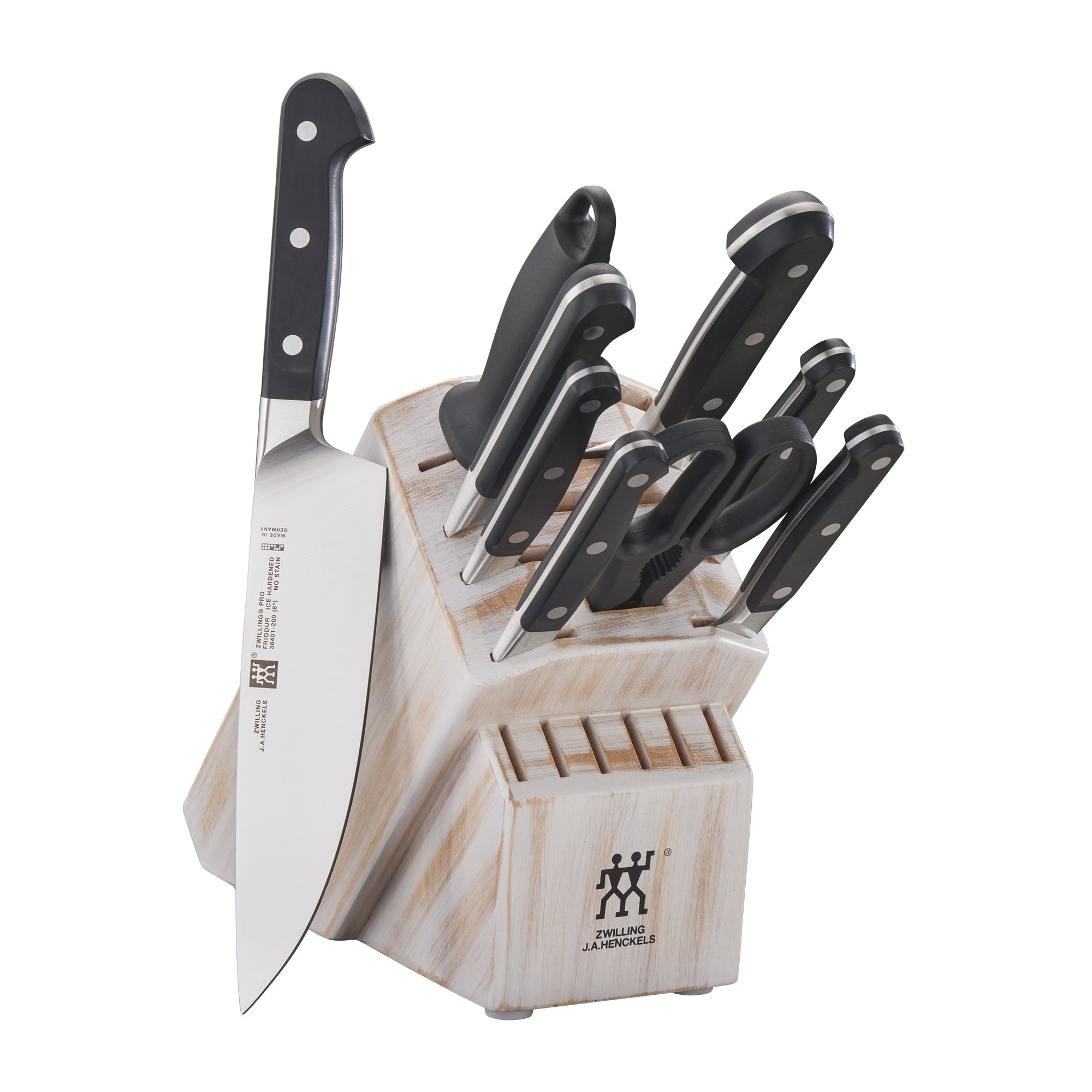 ZWILLING Pro 10-pc Knife Block Set - Rustic White by ZWILLING J.A. Henckels (Image #1)