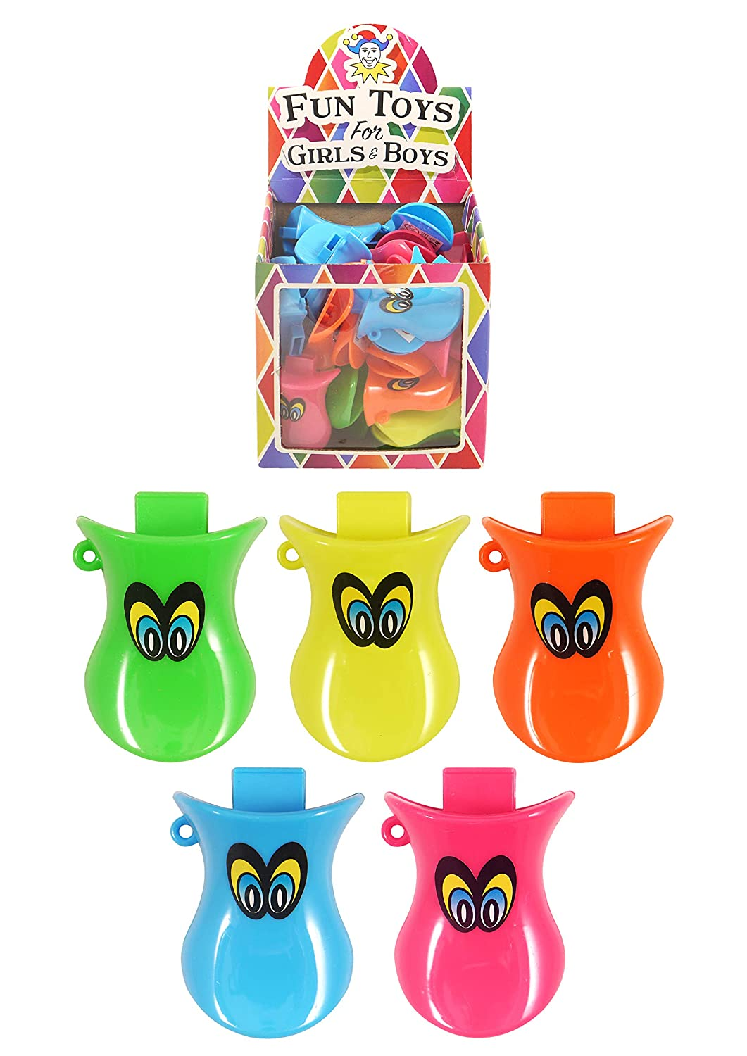 HENBRANDT Pack of 12 Duck Quacker Whistles Great Party Boys and Girls Loot Bag Fillers