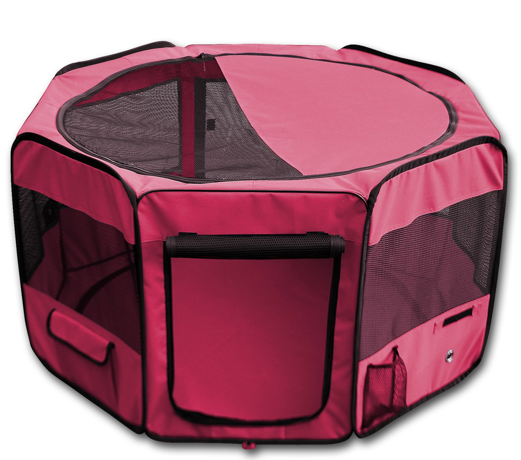 YoYo Moon 45'' Pet Puppy Dog Playpen Exercise Puppy Pen Kennel 600d Oxford Cloth Red