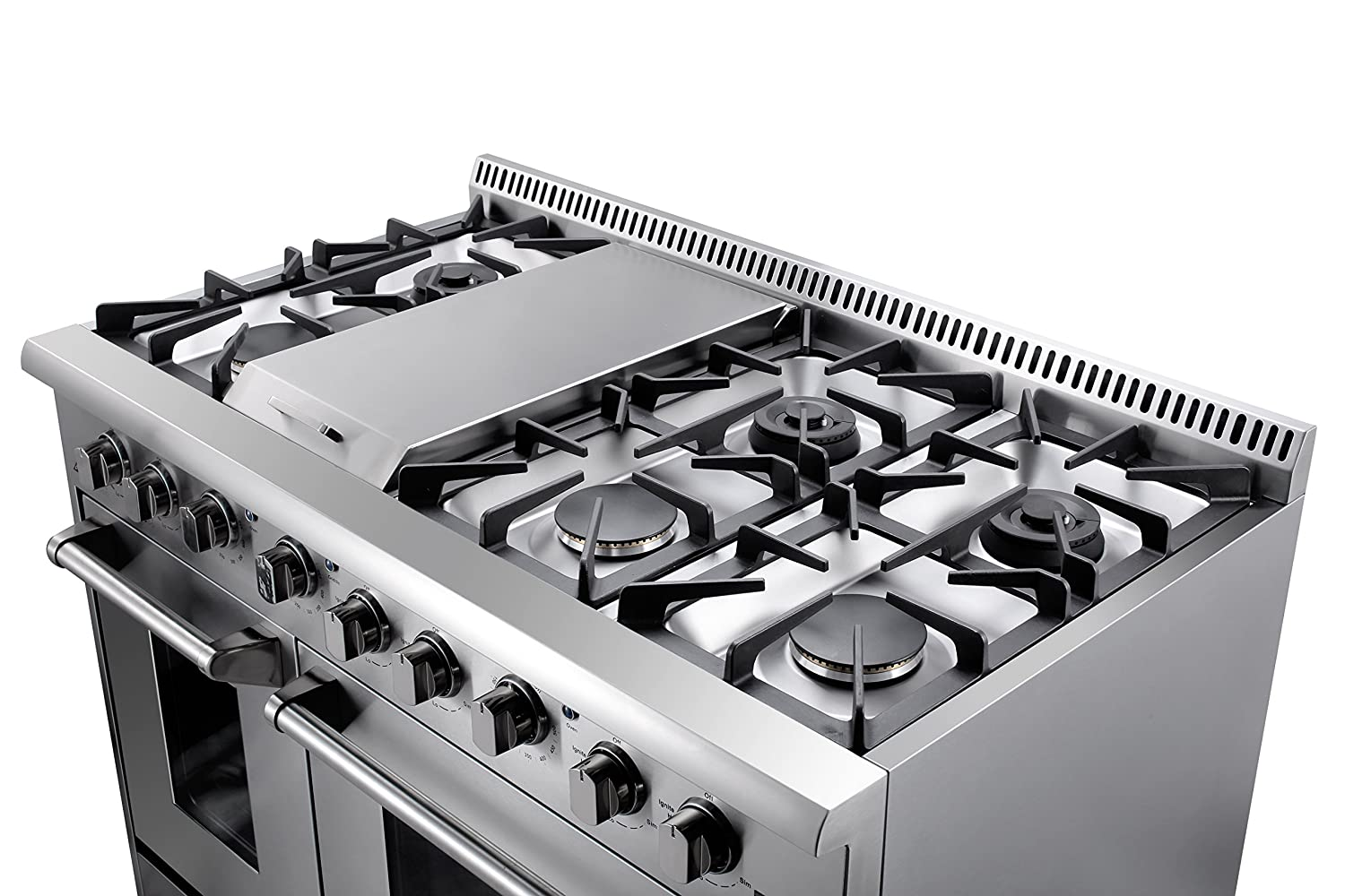 Amazon.com: Thor Kitchen Gas Range with 6 Burners and Double Ovens ...