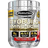 MuscleTech Pro Series Myobuild 4X Amino-BCAA, Powerful MuscleBuilding and Recovery Formula, Fruit Punch Blast, 350ml…