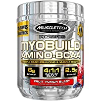 MuscleTech Myobuild BCAA Amino Acids Supplement, Muscle Building and Recovery Formula...