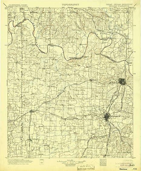 Amazon.com : YellowMaps Denison TX topo map, 1:125000 Scale, 30 X 30 on