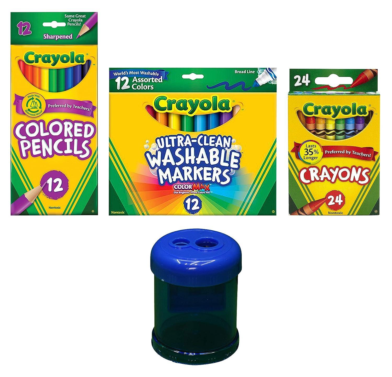 品質満点 Crayola クレヨン 2 + Packages (2 Boxes) B07Q23GZ1B crayons + crayons 2 colored pencils + markers crayons + colored pencils + markers, H+mFurniture:326664e3 --- arianechie.dominiotemporario.com