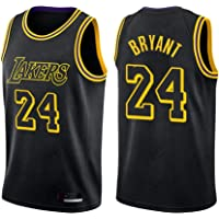 XYFF # 24 Kobe Bryant Los Angeles Lakers Jersey, Black Snake City Edition Jersey de Baloncesto para Hombres Tela de…