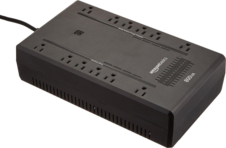 AmazonBasics Standby UPS 800VA 450W Surge Protector Battery Backup