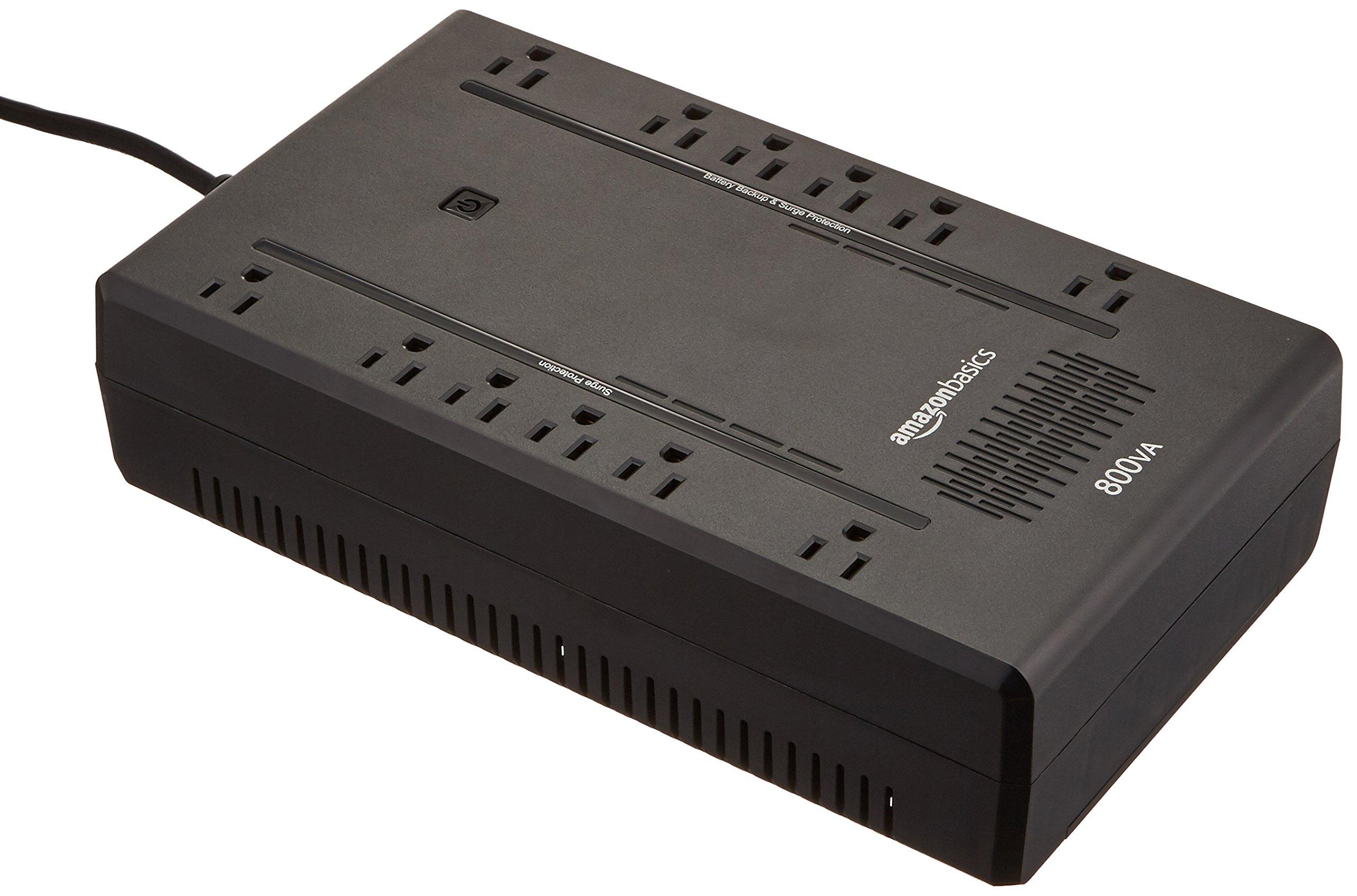 AmazonBasics Standby UPS 800VA 450W, 12 Outlets