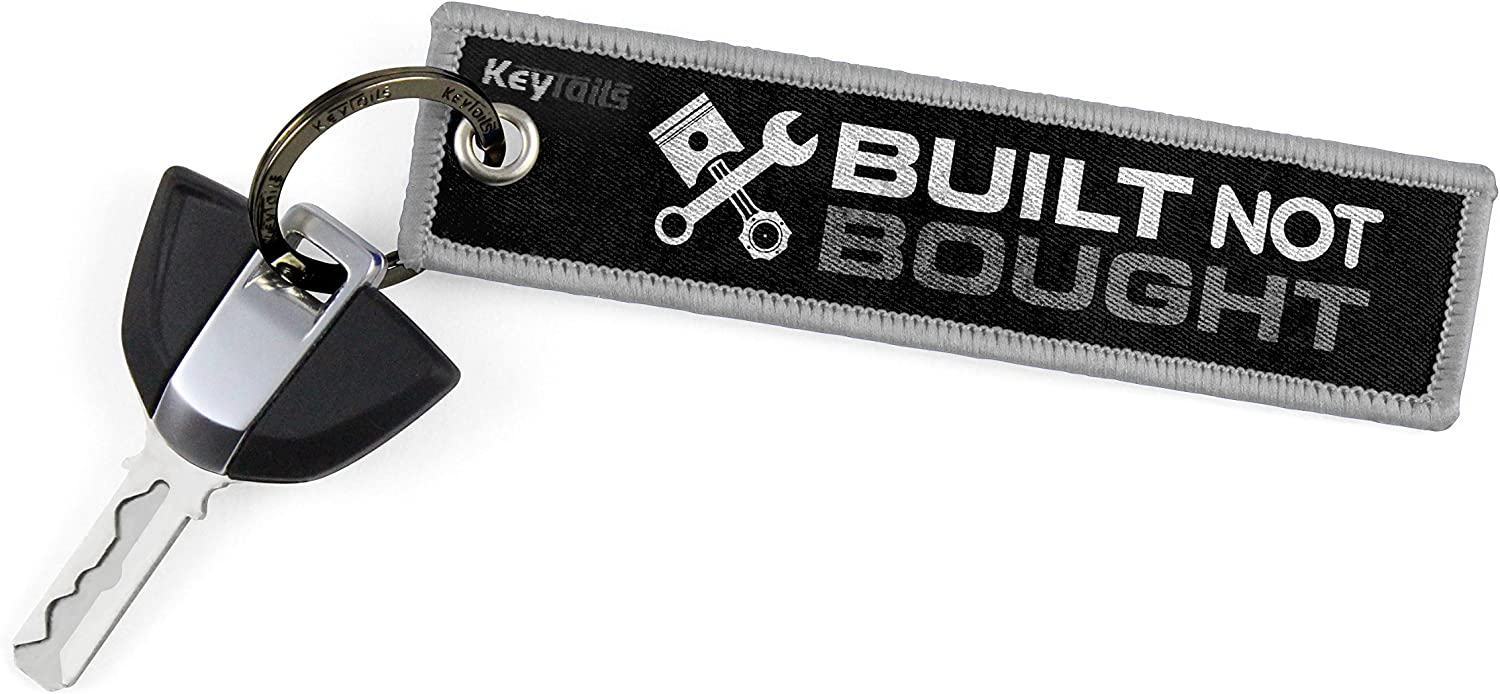 ATV Scooter Premium Quality Key Tag for Motorcycle UTV Car Built Not Bought KEYTAILS Keychains