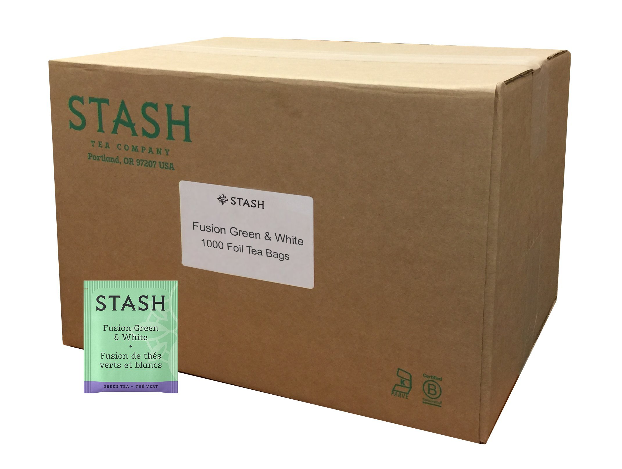 Stash Tea Fusion Green & White Tea 1000 Count Tea Bags in Foil (Packaging May Vary) Individual Tea Bags for Use in Teapots Mugs or Cups, White Tea and Green Tea, Brew Hot or Iced