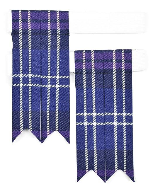 Macdonald Sporrans Heritage of Scotland para falda escocesa calcetines de Flashes de cuadros escoceses: Amazon.es: Ropa y accesorios