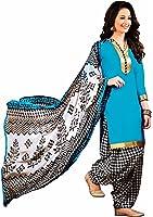 EthnicJunction Women's Cotton Dress Material (EJ1097-103_Free Size_Blue)