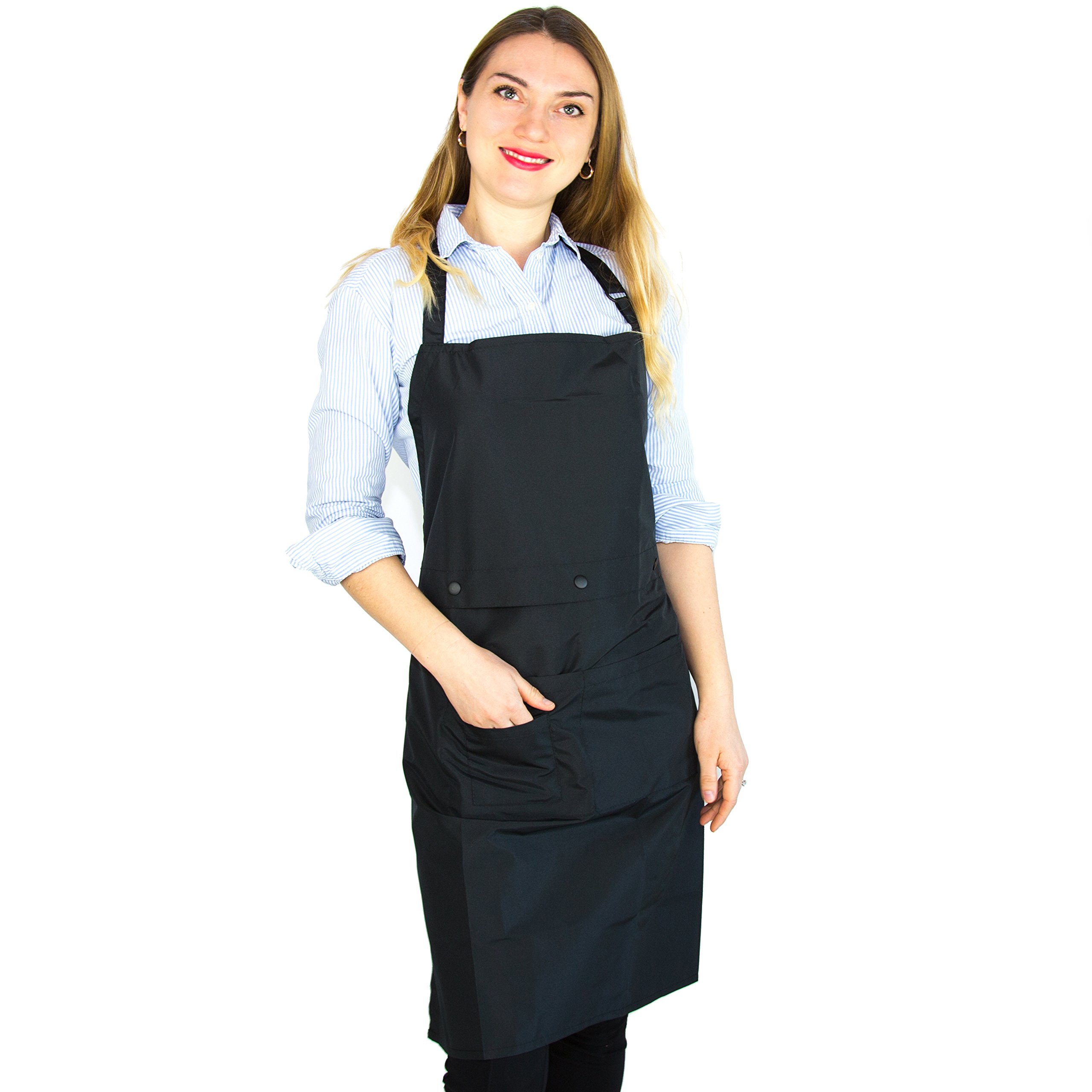 Two-Piece Hair Stylist Apron - Waterproof Apron - Protective PU Coating - Cosmetology Supplies - Nail Tech Apron - Cosmetologist Apron