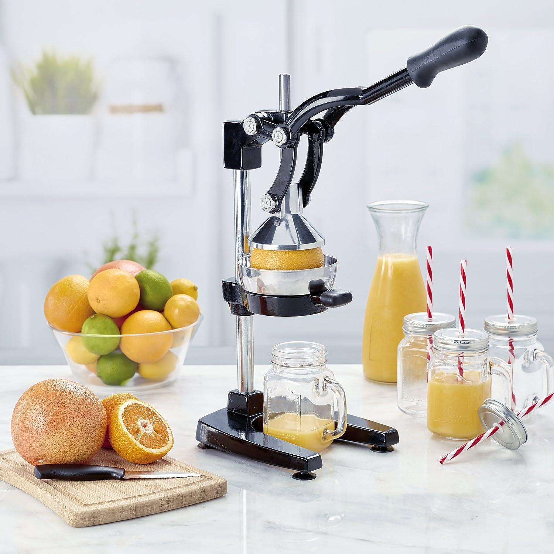 Focus Foodservice 97336 Jupiter Large Commercial Juice Press, Black
