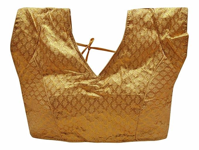PEEGLI Blusa Saree Moda Mujer Elegante Blusas Acolchadas Damas Cosido Choli: Amazon.es: Ropa y accesorios