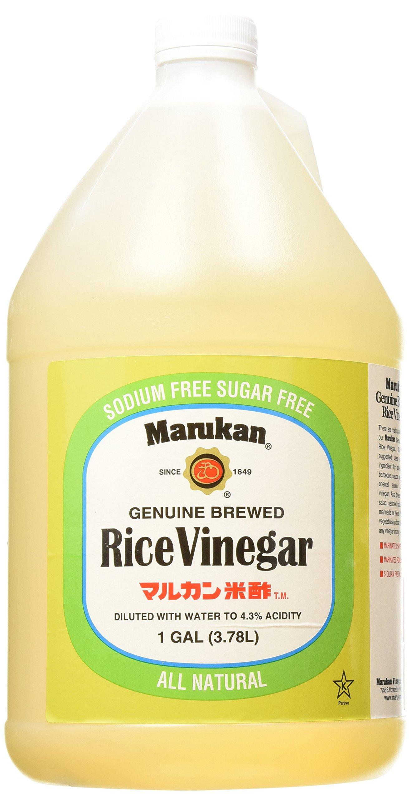 Marukan Genuine Brewed Rice Vinegar Unseasoned, 1 Gallon by Marukan