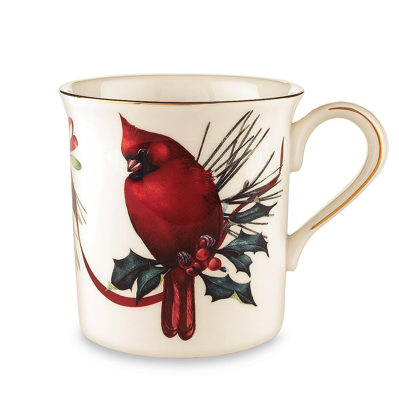 Amazon lenox winter greetings cardinal mug kitchen dining kristyandbryce Choice Image