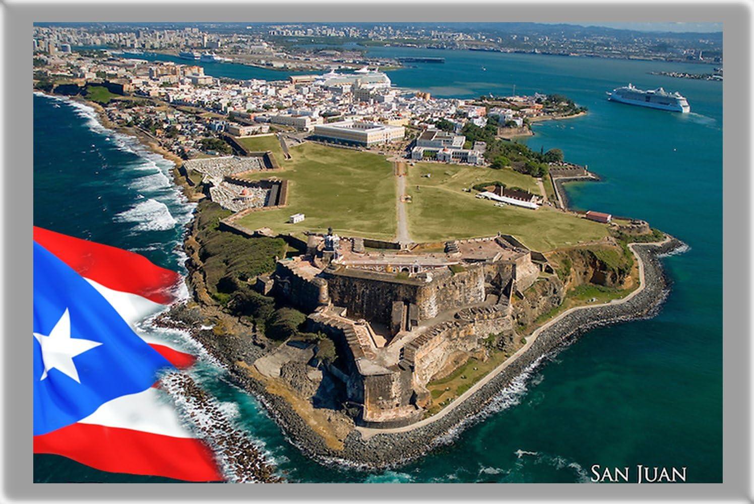 SAN JUAN REFRIGERATOR MAGNET FRIDGE MAGNET, THE CAPITAL CITY OF PUERTO RICO REFRIGERATOR MAGNET