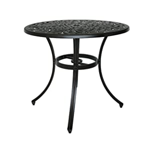 Christopher Knight Home 305323 Buda Outdoor Cast Aluminum Dining Table, Shiny Copper