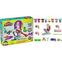 Play-Doh Super Stylist-kapsalon speelgoed voor kinderen vanaf 3 jaar met 8 potjes driekleurige Play-Doh-klei van elk 56…