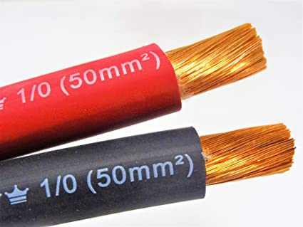 40/' FT 1//0 AWG WELDING//BATTERY CABLE 20/' BLACK 20/' BLUE 600V MADE IN USA COPPER