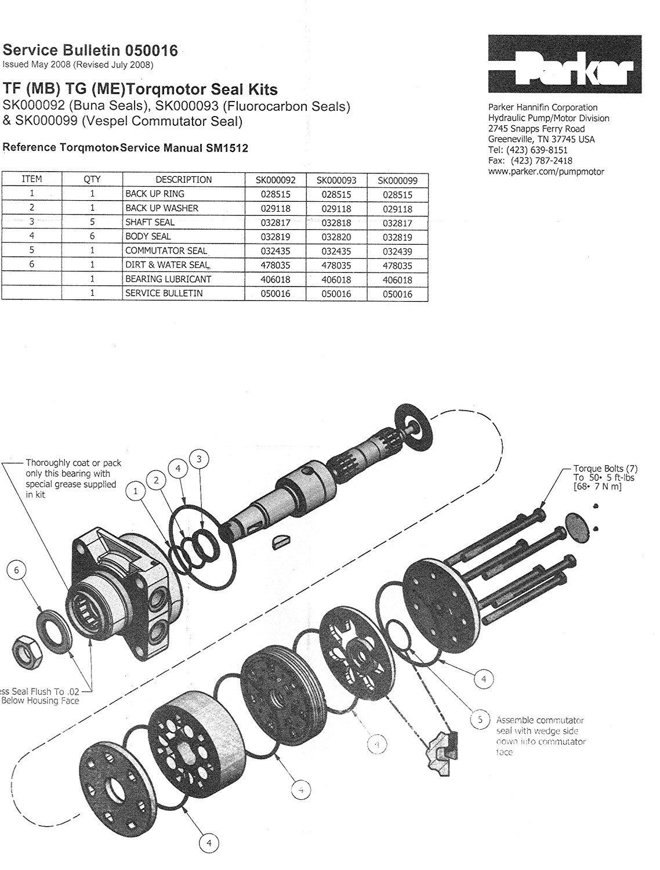 PA SK000092 - Parker TF(MB)/TG(ME) Series Seal Kit