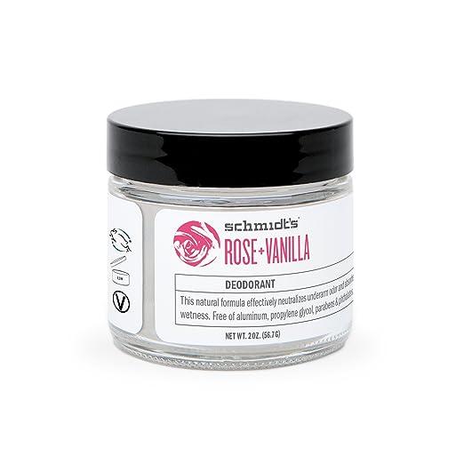Rose + Vanilla Deodorant Jar (2 oz.; Odor Protection & Wetness Relief; Aluminum-Free)