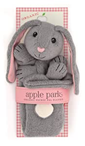 Apple Park Picnic Pals - Bunny Blankie, Blanket Baby Toy for Newborns, Infants, Toddlers - Hypoallergenic, 100% Organic Cotton