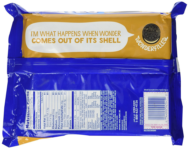 Oreo Peanut Butter Sandwich Cookie, 15.25 oz (5 Pack)
