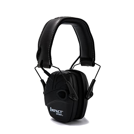Honeywell 1034490 Howard Leight Impacto Sport orejeras de protección auditiva, negro, 1