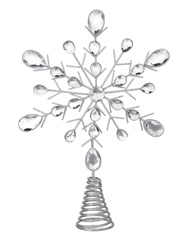 Heaven Sends Puntale per Albero di Natale Glitter Argento con Cristalli (32cm) Heaven Sends Limited