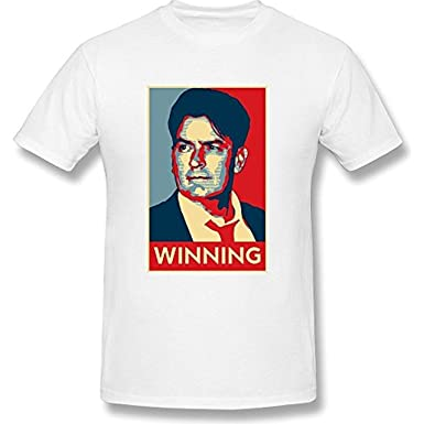 AKERY Mens Charlie Sheen Winning T Shirt XXL: Amazon.es: Ropa y accesorios