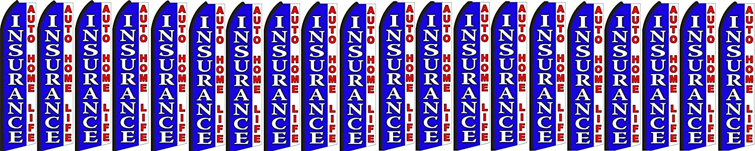 insurance auto home life King Swooper Feather Flag Sign Pack of 20 hardware not included