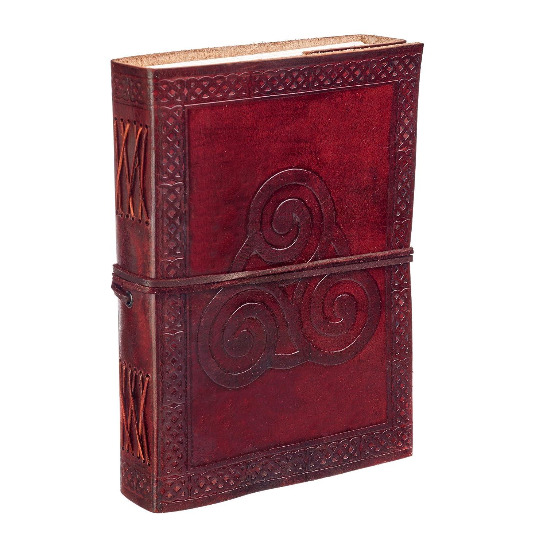 Celtic Triskelion Symbol diario in pelle alta Paper High