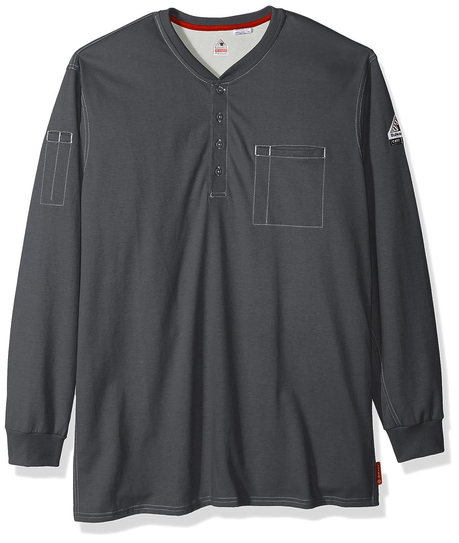 48d10b46cb2 Amazon.com  Bulwark Men s Iq Series Plus Long Sleeve Henley-Big Tall   Clothing