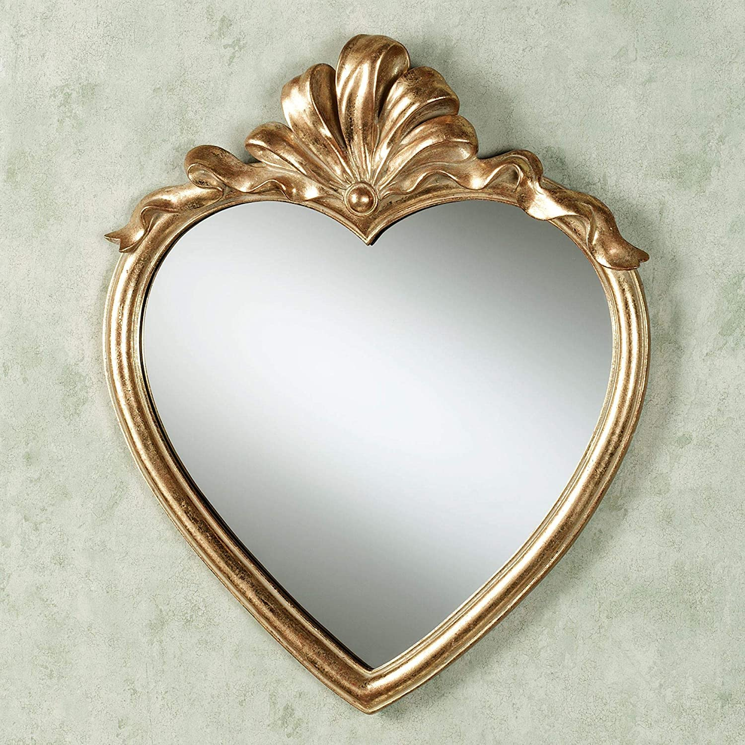 Touch of Class Karessa Heart Wall Mirror Antique Gold