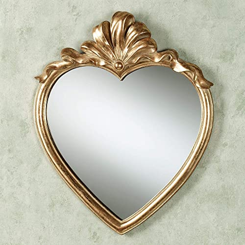 Touch of Class Karessa Heart Wall Mirror Antique Gold