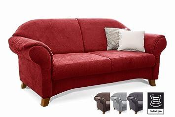 Cavadore 2 Sitzer Sofa Maifayr Mit Federkern / Kleine Couch Im Landhausstil  Mit Holzfüßen /